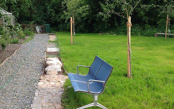 Der LAUSL-Park wird immer grüner und wartet auf Besucher