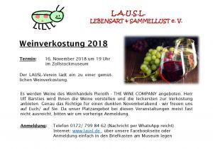 Weinverkostung 2018