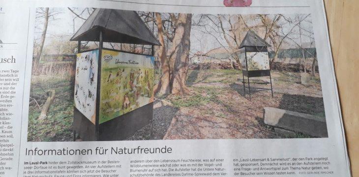 Der LAUSL-Park wird bunter (MAZ vom 05.04.2019)