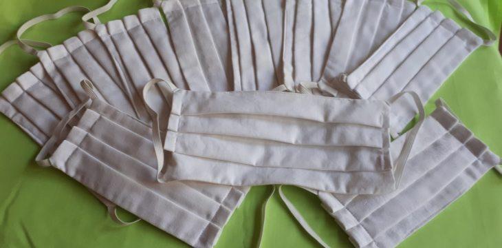 LAUSL näht Behelfsmasken für das Pflegeheim Bestensee
